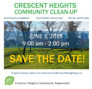 Crescent Heights Community Clean-Up @ Crescent Heights Community Association  | Calgary | Alberta | Canada